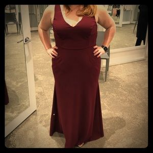 Merlot colored gown